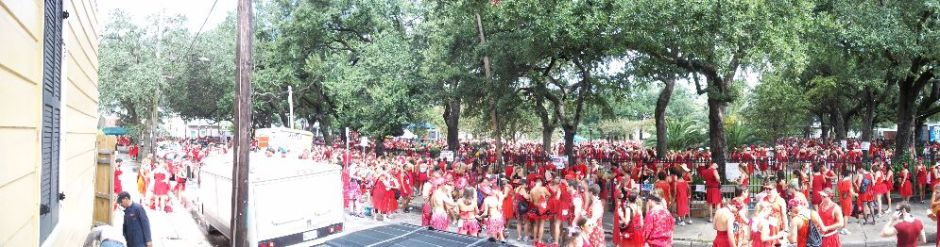 Gulf Oil Spill C Red Dress Run New Orleans