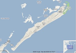 Gulf Oil Spil Grand Isle Map