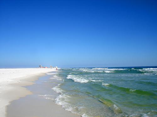 oil spill beach sand