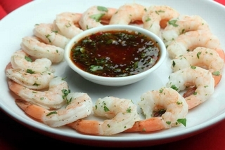 Shrimp with Cilantro Sauce
