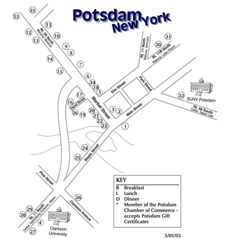 Potsdam New York Map