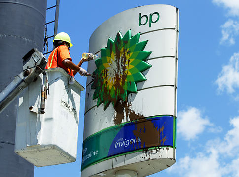 Silent Boycott BP Fuel Station