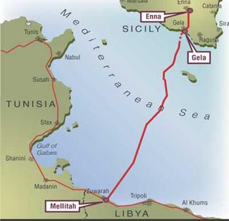 Operation libya and the battle for oil redrawing the map of greenstream pipeline linking libya to italy right sciox Images