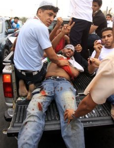 Bahrain Protests Saudi Troops Marshall Law