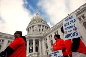 Wisconsin Protests Call for General Strike