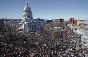 wisconsin protests 85,000