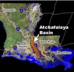Louisiana's Atchafalaya Basin Map