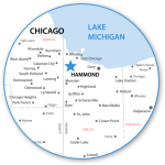 Hammond Indiana Map